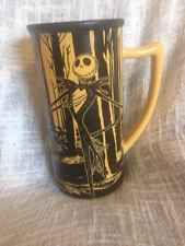 Disney Burton Nightmare Before Christmas Tall Mug Jack Skellington Black Yellow