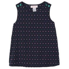 Classic navy dobby summer dress with kelly & white accents. If in doubt, buy down a size. Embroidered Clothes, Dobby, Polka Dot Top, Preppy, Summer Dresses, Navy, Classic, How To Make, Stuff To Buy