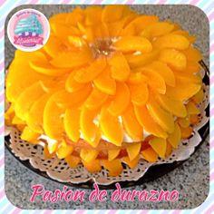 Delicioso pastel de duraznos!!! No solo es hermoso, es delicioso!!!!!!