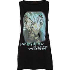 Black love may be blind print tank top - print t-shirts / vests - t shirts / vests / sweats - women