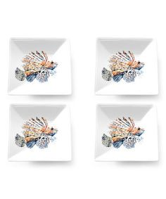 Look what I found on #zulily! Lionfish from Atlantis Porcelain Tidbit Plate - Set of Four #zulilyfinds