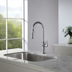 kraus nola faucet sleek lines and soft curves create a beautifully balanced silhouette that suits - Kraus Faucets