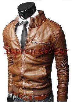 Handmade New Men Rib Style Slim Fit Leather Jacket, Men leather jacket, Leather jacket for men on Etsy, £87.32