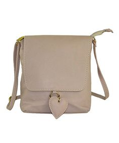 Pelle Mania: Grey Heart Tag Shoulder Bag by Pelle Mania: Italian Leather Bags on #zulilyUK today!