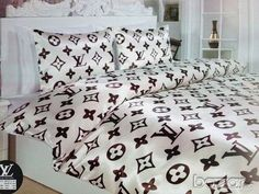 Louis Vuitton luxury Bed set Queen size 6 pieces by luxurybedroom, $90.00