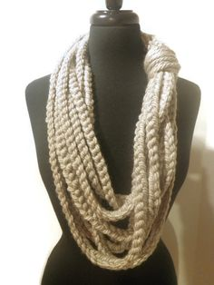 Chunky rope scarf cowl scarf made to order you by CrochetByMel #ropescarf #cowlscarf #crochetscarf