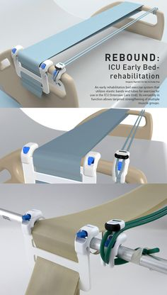 People in hospitals are usually confined to their beds. This means they spend a lot of their time lying down and not getting enough exercise. The Rebound is an attachment for the hospital bed that allows patients to keep their foot muscles active. Read more at Yanko Design