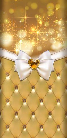 Bow Wallpaper, Sparkle Wallpaper, Cream Wallpaper, Phone Screen Wallpaper, Cellphone Wallpaper, Wallpaper Backgrounds, Iphone Wallpaper, Kawaii Background, Glitter Background