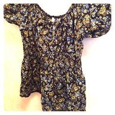 Xhilaration Tops - Floral peasant style blouse, 100% cotton.