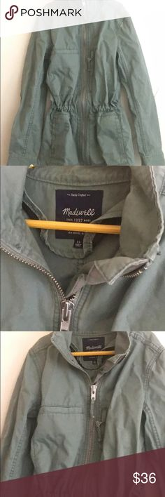 Madewell Olive Green Military Jacket Olive Size xs :) Great condition  -sorry about the pic quality, my camera lens is broken madewell Jackets & Coats Utility Jackets