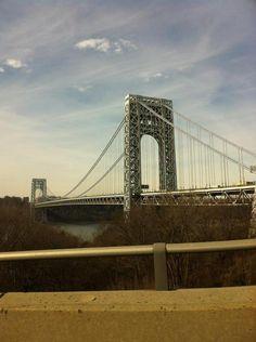 Fort Lee, Washington Heights, Hudson River, George Washington Bridge, Bridges, Places Ive Been, New York City, Journey, Nyc