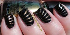 cool nails #black and #gold