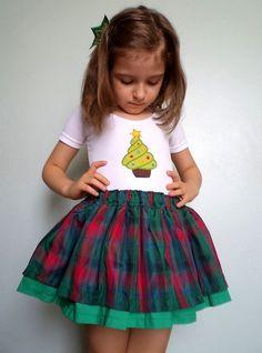 Conjunto Cupcake de Natal - 0 a 8 anos