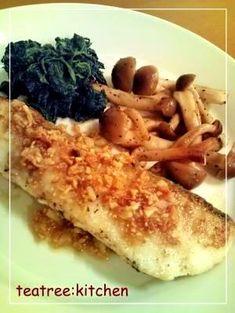 「鱈のムニエル★にんにくソースがけ」にんにくソースは、白身魚によく合います♪【楽天レシピ】