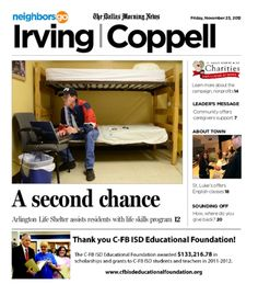 11/23 Cover Story: Arlington Life Shelter serves Irving, provides life skills as part of outreach.