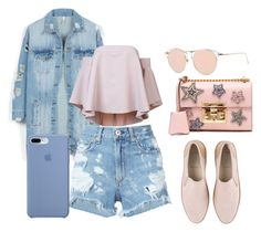 """""""NY Girl 2"""" by kamila201221 on Polyvore featuring мода, LE3NO, rag & bone/JEAN, Milly, UGG и Gucci"""