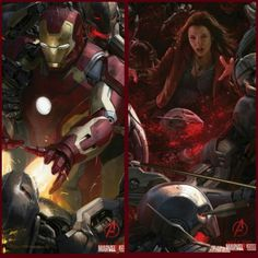 Here is 2 Brand NEW !!! Movie Posters from Avengers: Age of Ultron featuring Iron Man & Scarlet Witch.