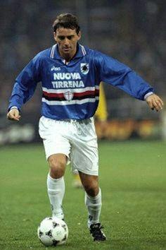 Roberto Mancini of Sampdoria in 1990.