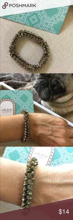 ⚡️$9⚡️Stella & Dot stretch bracelet Gently worn and in excellent condition! Pug not included 😬 Stella & Dot Jewelry Bracelets