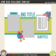 free digital scrapbooking template scrap with me free digital