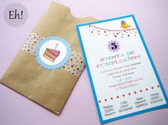 homemade birthday invitation