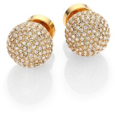 Michael Kors Pave Ball Stud Earrings/Goldtone ($85) ❤ liked on Polyvore featuring jewelry, earrings, accessories, brincos, bijoux, gold, michael kors earrings, goldtone jewelry, michael kors and pave jewelry