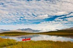 Denali Highway with Alaska Range views near Tangle Lakes