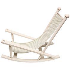 'Deauville' Fine & Rare Garden Rocking Chair by Gilles Sermadiras - c 1952/France