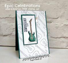 Sarah-Jane Rae cardsandacuppa: Stampin' Up! UK Order Online 24/7: Epic Celebrations Guitar in Tranquil Tide