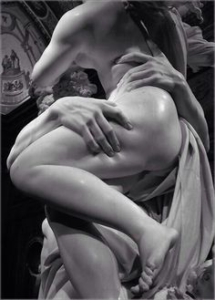 """""""The most sensuous thigh ever made in stone - by Gian Lorenzo Bernini, who died #onthisday in 1680. #art"""""""