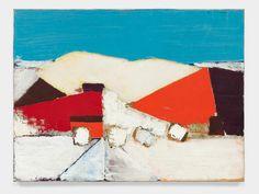 Nicolas De Stael. Collines à Agrigente. Huile sur toile. 1954