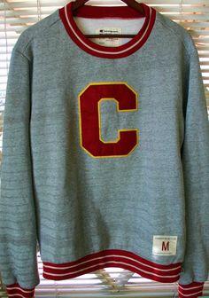 Hipster Vintage Medium Champion Sweatshirt  Letterman by IconOrama, $32.14