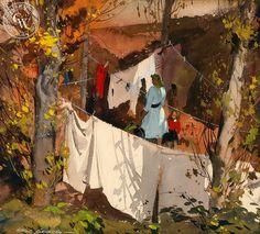 Hardie Gramatky. Clothesline, 1945