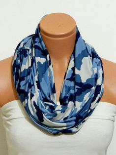 Lycra Jersey Fabric ScarvesCamouflage Infinity by WomanStyleShop, $19.00