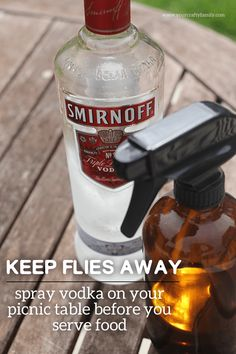 DIY Fly Spray. Find original post here: http://yourcraftyfamily.com/keep-flies-away-from-food/