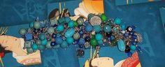 Caribbean Sea Charm/Junk Bracelet by ErikasChiquis on Etsy