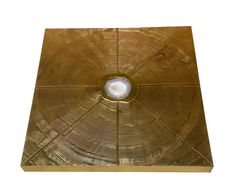 Signed brass Acid Etched and Agate Inset coffee table made in Belgium  | From a unique collection of antique and modern coffee and cocktail tables at https://www.1stdibs.com/furniture/tables/coffee-tables-cocktail-tables/