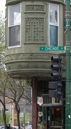 Chicago Avenue (Chicago Pin of the Day, 2/5/2014). Very typical architecture in some parts of town.