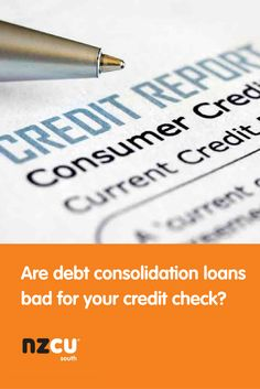 Are debt consolidation loans bad for your credit check?  Find out if getting a debt consolidation loan can be bad for your credit.