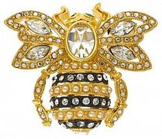 From Joan Rivers Classics Collection, this bee pin is an inspiring symbol that reminds you nothing is impossible. Designed for a vintage look, this pin is based on one of Joan's favourite designs...