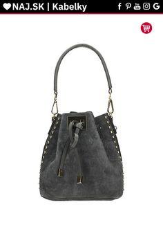 Kabelka shopper Vera Pelle Sivá KR-027 GREY-019 Shopper Bag, Bucket Bag, Michael Kors, Grey, Bags, Fashion, Gray, Handbags, Moda