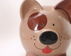 Puppy Dog Piggy Bank  Personalized Dog Bank  Beagle by ThePigPen