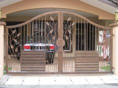 Front Fence Design For House. Home and Family Simple Main Gate Design, Iron Main Gate Design, Home Gate Design, House Fence Design, House Main Gates Design, Steel Gate Design, Front Gate Design, Small House Design, Cool House Designs