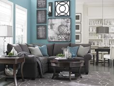 L-Shaped Sectional by Bassett Furniture---Perfect size for our small living room
