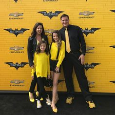 "Annie Hayley Caleb Bratayley on Instagram: ""#AD We are having so much fun on the black and yellow carpet for the #LEGOBatmanMovie Be sure to to it in theaters Friday! (2/10)"""