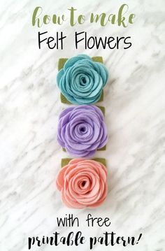 An easy felt flower tutorial that can be used for making headbands, magnets, wreaths and more!