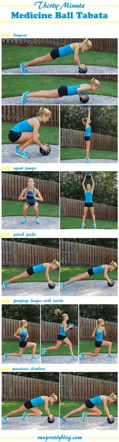 For a medicine ball workout with plenty of jumping. | These 29 Diagrams Are All You Need To Get In Shape