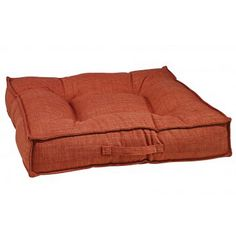 Tucson Orange Microlinen Piazza Pet Dog Bed | Bowsers  ~ Great bed for corners! Sleek, space saving modern design, Machine Washable. High Quality, Not sold in Big Box Stores. Medium, Large & XLarge **Click here for more info** Free Shipping