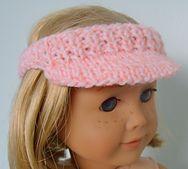 Ravelry: AMERICAN GIRL DOLL FREE SUN VISOR PATTERN pattern by Jacqueline Gibb. FREE! #knitting #free #pattern