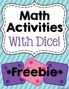 Math Activities With Dice - Free - students will be able to practice addition, graphing, and more! These activities are perfect for math centers, workstations, or just extra practice after a lesson!Included: Roll & Add Graph The Dice Color The DiceMore activities in the full product!_______________________________________________________________________________You may also like:Number Practice 1-20One Hundred ChartsAddition PracticeSubtraction PracticeMultiplication Practice